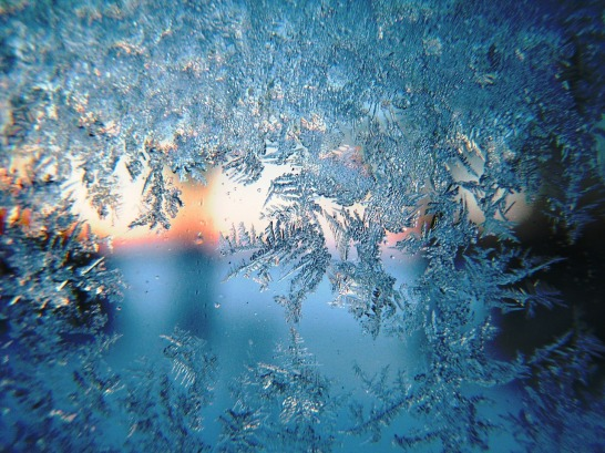 Frost with sun