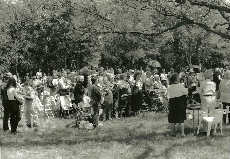 Jackson marker dedication crowd 1998