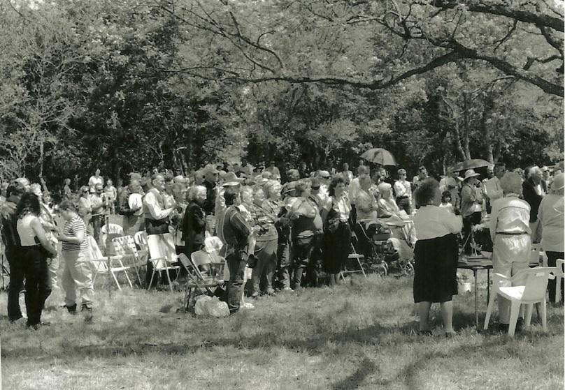 Jackson marker dedication crowd 1998